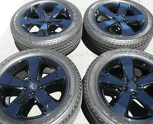 "20"" Jeep Grand Cherokee New Wheels Factory Rims Painted 4 Tires Black Good Years"