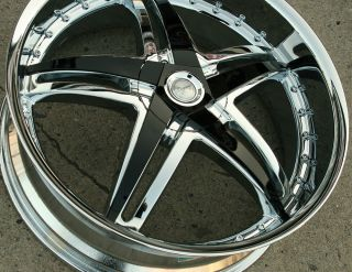 Legacy LG12 22 x 8 0 Chrome Rims Wheels Saab 9 3 Sport Aero 98 Up 5H 40