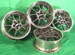 Saab 9 3 SE 9 5 Restored BBs RK511 17x8 Forged 2 Piece Alloy Wheels Rims