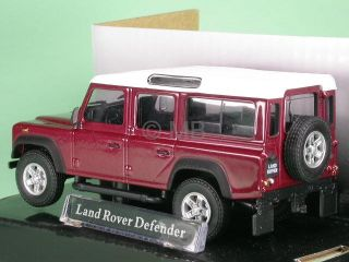 Land Rover Defender Red Diecast Model Car Cararama 1 43