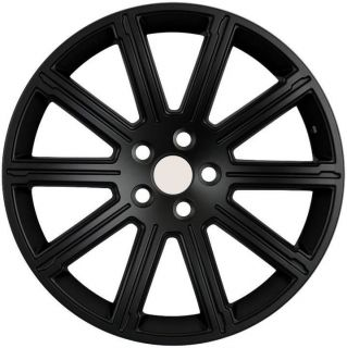 "22"" Land Rover ""Rover"" Wheels 5x120 Black Rim Fits Land Rover LR3 HSE 2008 2009"