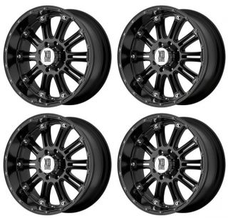 KMC XD795 Hoss XD79589058330 Rims Set of 4 18x9 30mm Offset 5x150 Gloss Black