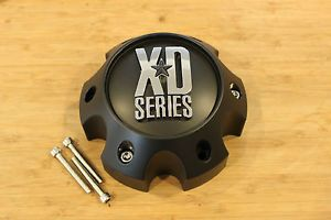 KMC XD Series 796 797 798 Matte Flat Black 6 Lug Wheel Rim Center Cap 1079L145