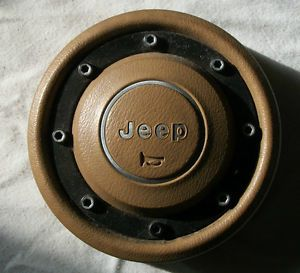 Jeep Wrangler YJ Factory Steering Wheel Horn Cover Spice