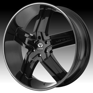 24 inch Lorenzo WL030 Black Wheels Rims 5x5 Jeep Grand Cherokee Commander