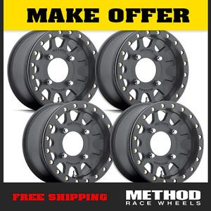 Method Race Wheels UTV Beadlock 14X7 Black Fits All Polaris RZR XP900 XP1000 800