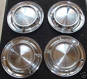 "14"" 1961 Classic Pontiac Catalina Hubcaps Wheel Covers"