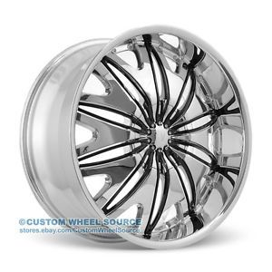 "20"" Velocity VW820 Chrome Wheel Tire Package for Mazda Mitsubishi Nissan Volvo"