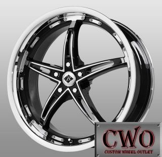 17 Chrome Black Ice Mayhem Wheels 5x110 5 Lug G6 Malibu HHR Saab Cobalt SS