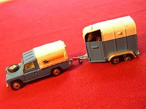 Corgi GS15 Pony Club Land Rover Beaufort Horse Trailer Vintage Whizzwheels