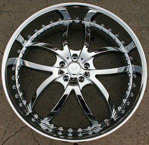 "Bigg Style 406 24"" Chrome Rims Wheels Olds Cutlass Sierra rwd 24 x 9 5 5H 18"