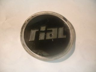 Vintage Rial 60 mm Black with Silver Script Wheel Center Cap Decal Emblem Logo