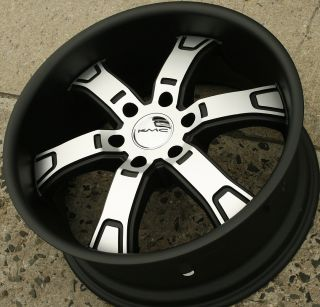KMC Brodie KM671 20 x 9 0 Black Rims Wheels Chevrolet Traverse 07 Up 6H 22