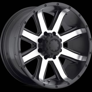 20x10 Machined Black Ultra Crusher 195 Wheels 8x180 0 Lifted Chevrolet