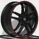 17 inch Wheels Rims Black Pontiac G3 G5 Mini Cooper 4 Lug Motegi Racing MR117