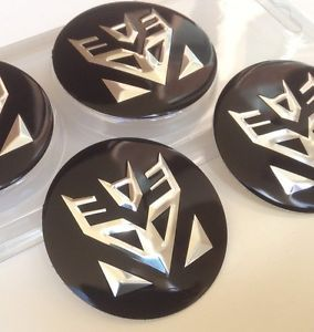 4X Center Caps Universal Emblem Decal Wheel Rim Hubcap Mazda MPV Land Rover Saab