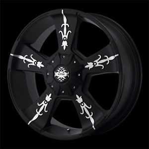 4 New 22x9 6 5 5 6 135 KMC Vandal Matte Black Wheels Rims Chevy Ford Truck