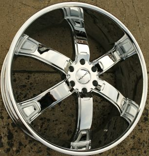 KMC Brodie KM671 26 x 10 Chrome Rims Wheels Ford F150 F 150 04 Up 6H 25