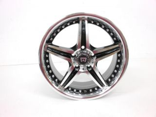"Motegi Racing Series MR107 Gloss Black Finish Machined Wheel 17x7 5"" 5x114 3mm"