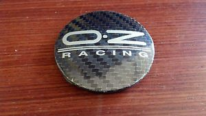 Oz Racing Carbon Fiber Silver Logo M582 Wheel Center Cap PA66M15 55mm 81310435