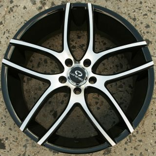 Lorenzo WL035 20 x 8 5 Black Rims Wheels Ford Flex 09 Up 5H 38