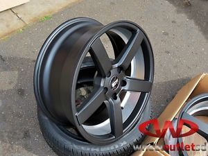 18'' Str Vossen CV3 Style Wheels Satin Black w Tires 5x114 3 5x120 Lexus Is BMW