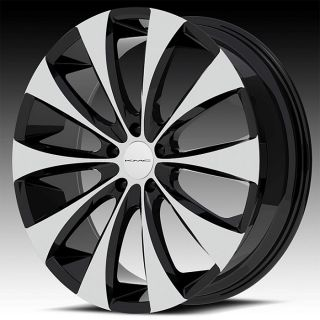 "22"" Black KMC Fader Wheels Tires 5x115 Chrylser 300 Dodge Charger Magnum"