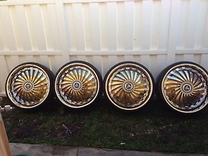 28 inch 275 25 28 Dub Swyrl Spinners Floaters Wheels and Tires 28x10 Chrome Rims