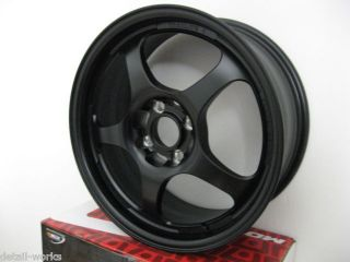 Motegi Racing Traklite 16x7 4x100 Black Rims Wheels 42mm MR23886749 New 12lbs
