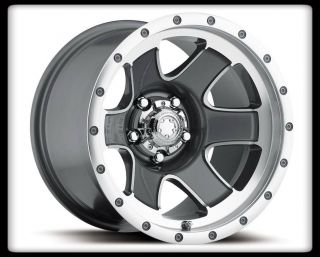 "15"" Ultra 174 Nomad Grey Rims Toyo 33x10 50x15 Lt Open Country MT Tires Wheels"