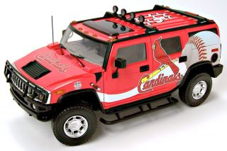 Highway 61 St Louis Cardinals Hummer H2 Diecast Car Truck SUV 1 18