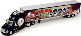 Derek Jeter New York NY Yankees MLB Diecast Tractor Trailer Model 1 64
