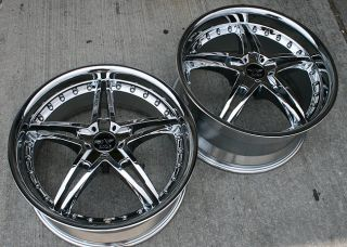 "Avarus AV5 19"" Chrome Rims Wheels E39 E60 5 Series"