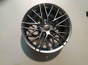 "19"" 19x10 Bright Satin 5x4 75 Single 79mm Sport Muscle ZR Corvette Replica Wheel"
