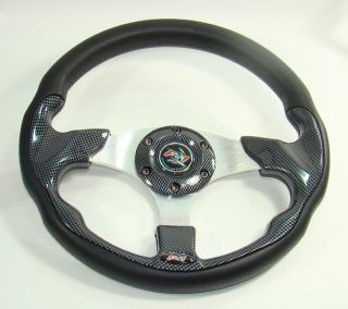 Universal 320mm Car F1 Sport Series Racing F 1 Steering Wheel Carbon SY519