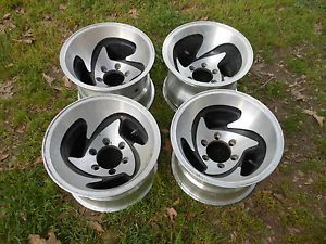 Vintage Set of Ultra 15x10 6 Lugs Aluminum Mag Wheels Chevy GMC Blazer Truck 4x4