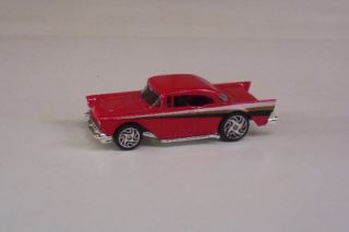 1957 Chevy Red Street Wheels Series Racing Champions Car Toy Vehicle