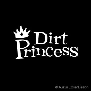 Dirt Princess Vinyl Decal Car Truck Sticker FMX 4x4