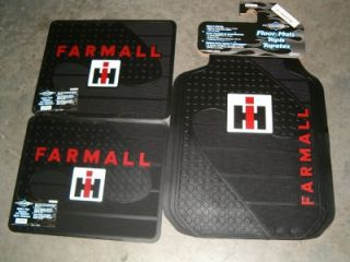 International Harvester Farmall Tractor Floormats 4 PC Set IH Truck Car Mat