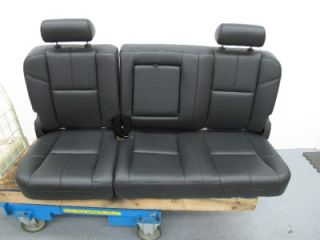 07 13 Chevy Silverado Truck Sierra Crew Black Leather Power Bucket Seats Rear