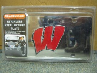 Wisconsin Badgers NCAA Stainless Steel Truck Car License Plate