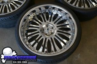 "24"" asanti AF 137 Chrome Multipiece BMW 7 Series 745 750 Wheels Rims Kumho Tires"