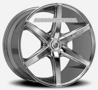 "22"" Lexani R6 Six CH Wheels and Tires Rims for BMW Mercedes Camaro 300C"