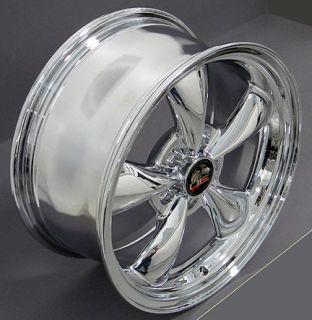 "17"" Chrome Bullitt Bullet Wheels Set of 4 Rims Fits Mustang® GT"