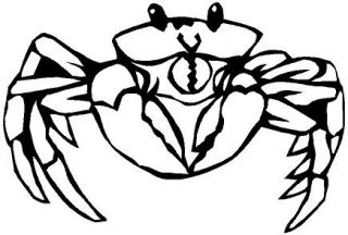 Crab Vinyl Decal Car Cycle Truck Window Sticker