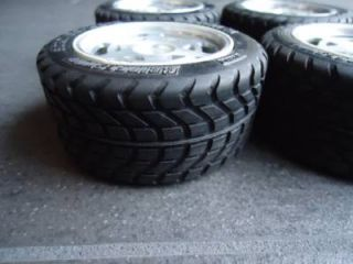 4 Vintage Kyosho Chevy Corvette ZR1 Wheels Tires RC Car