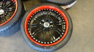 "20"" Auto Couture Custom Painted Wheels Mercedes CLS Series CL500 CL550 Asanti"