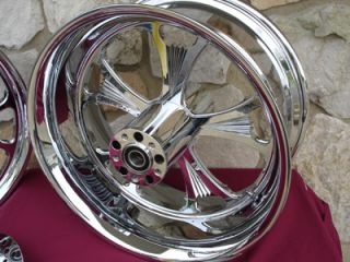 Black Mag Wheels for Harley Davidson Choppers