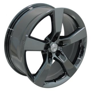 "20"" Camaro SS Wheels PVD Black Chrome Set of 4 Rims"