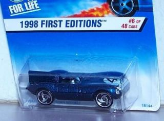 1998 Hot Wheels First Editions Jaguar D Type 1 Passenger Car Wheel Variation